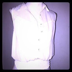 XoXo- sheer Chiffon-off white blouse